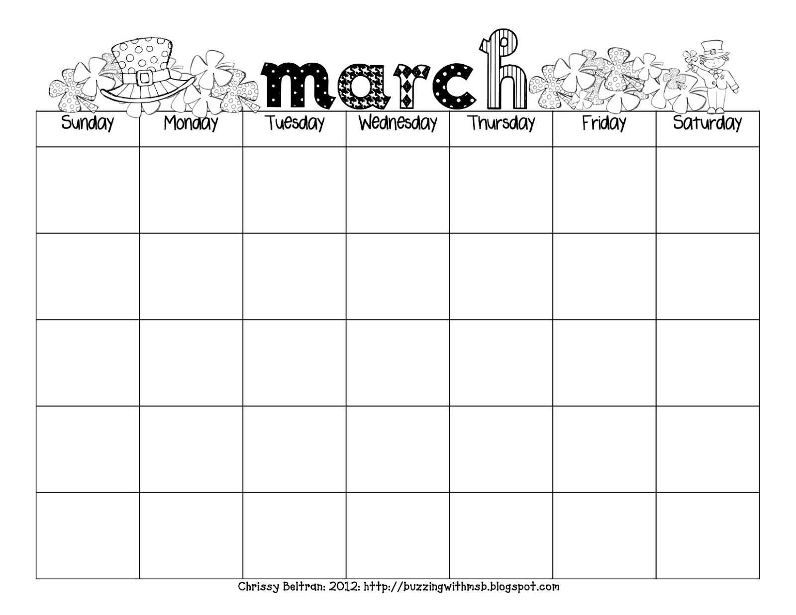 Carson Dellosa Printable Calendars | Want A March Calendar? Grab It