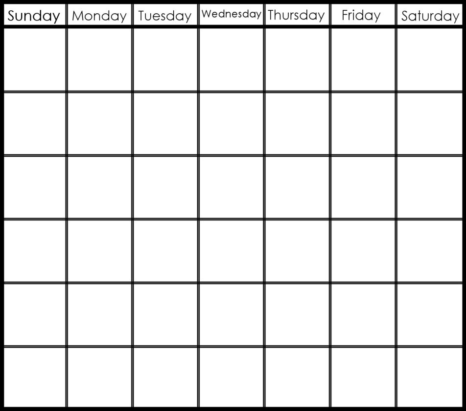 Catch 6 Week Printable Blank Calendar ⋆ The Best Printable Calendar