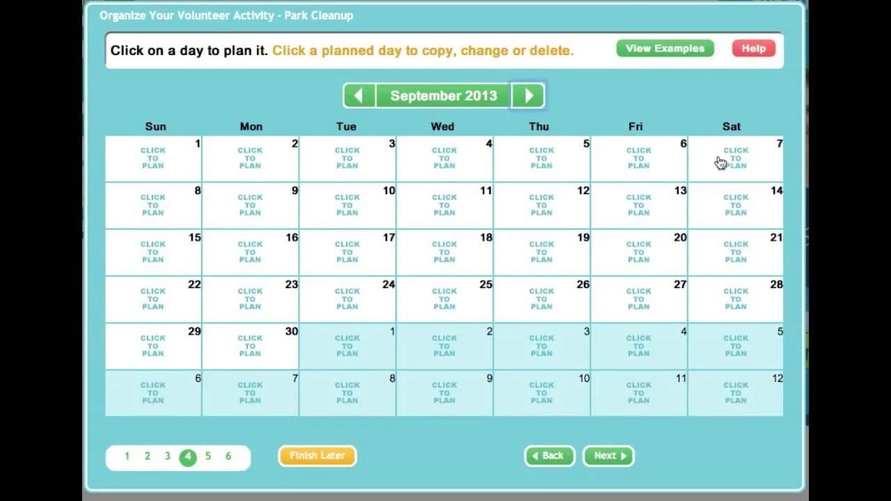 Creating An Online Sign Up Sheet Or Volunteer Calendar - Youtube