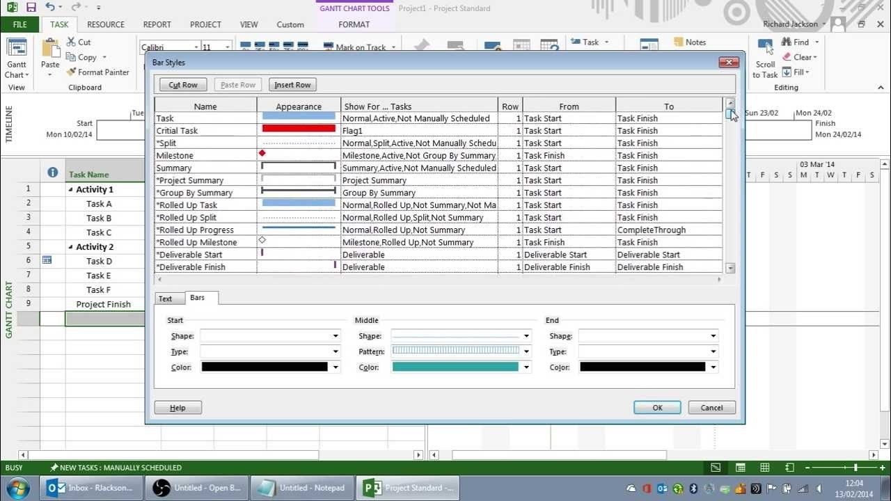 Creating The Perfect Print View In Microsoft Project - Youtube