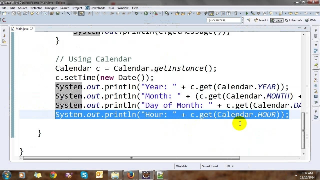 Date, Calendar And Time In Java - Youtube