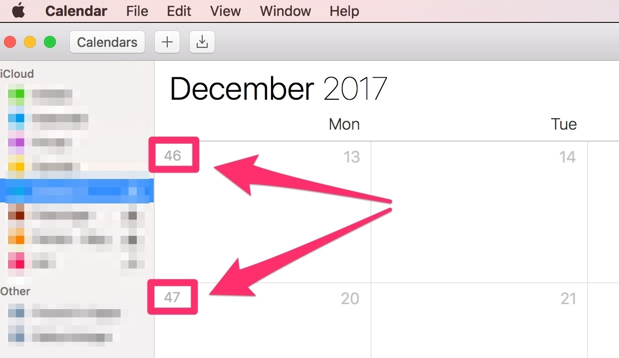 Display The Week Of The Year In Macos High Sierra | Elmland