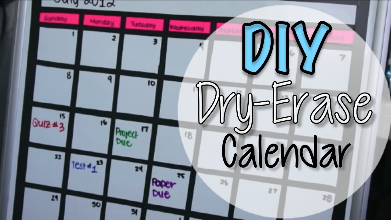 Diy Dry Erase Board Calendar - Youtube