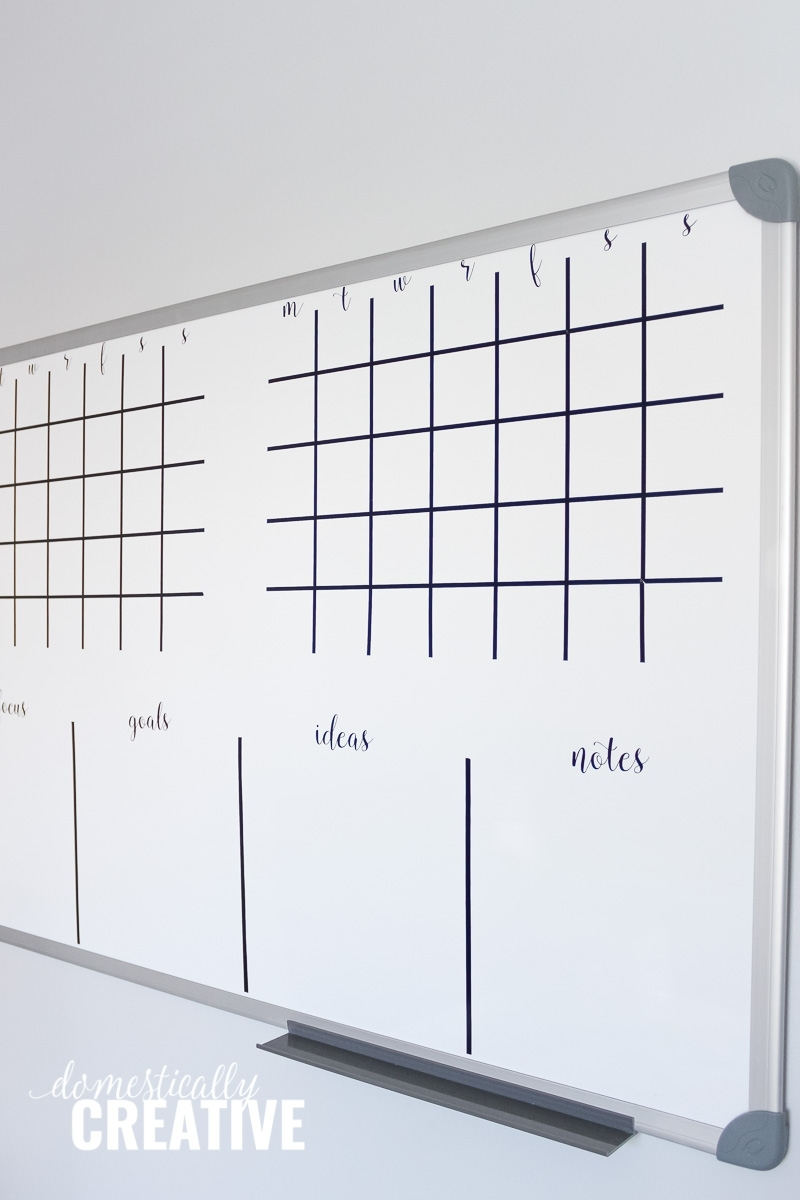 Diy Whiteboard Calendar And Planner | Domestically Creative