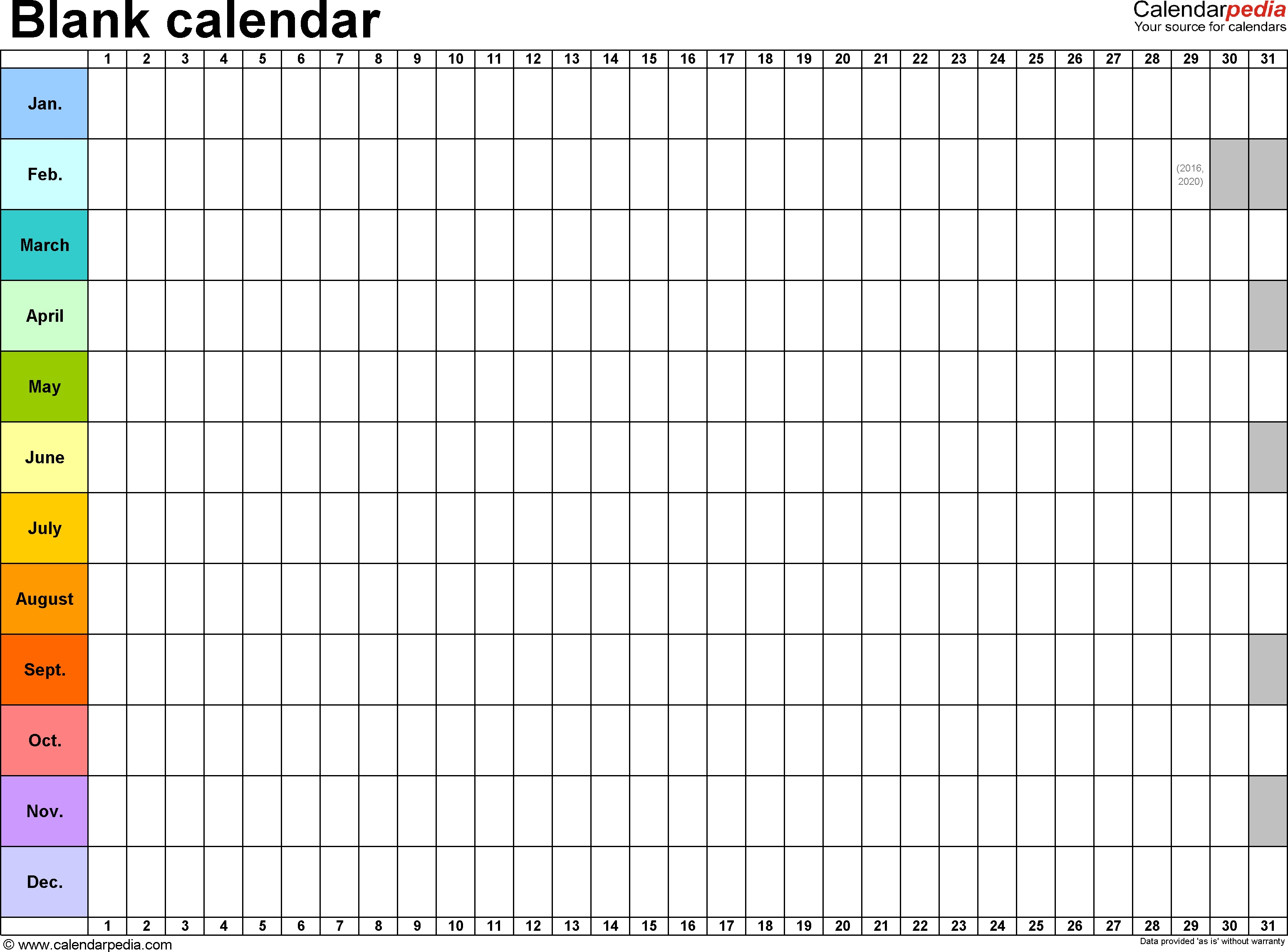 Empty Schedule Planner Template Blank Calendar Free Printable