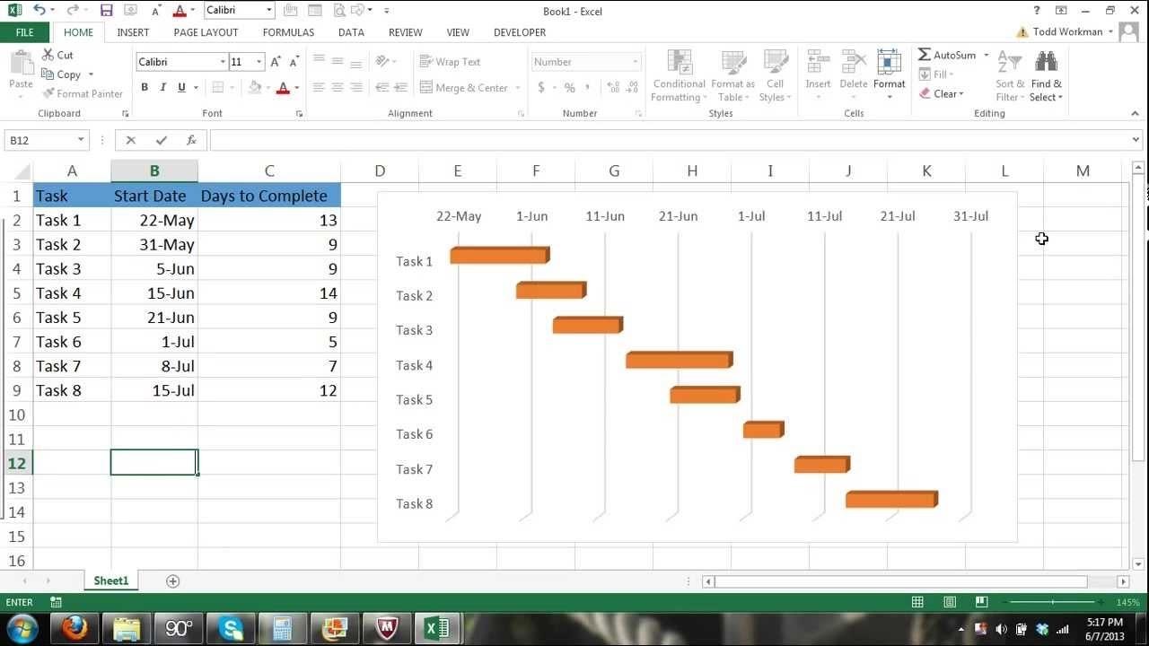 Excel Gantt Chart Tutorial - How To Make A Gantt Chart In Microsoft