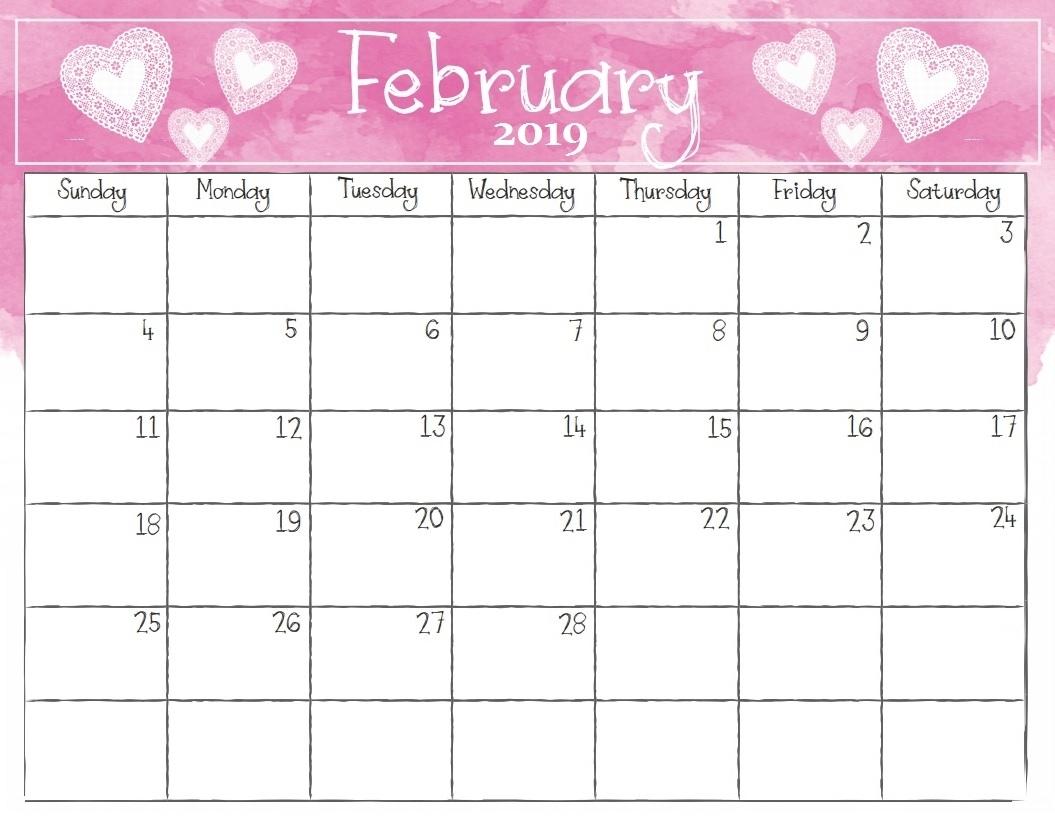 February 2019 Calendar Spanish Printale Imaes Wih Holidays Pdf