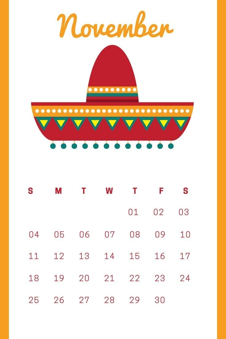 Free November 2018 Iphone Wallpaper Calendar | Calendar Wallpapers