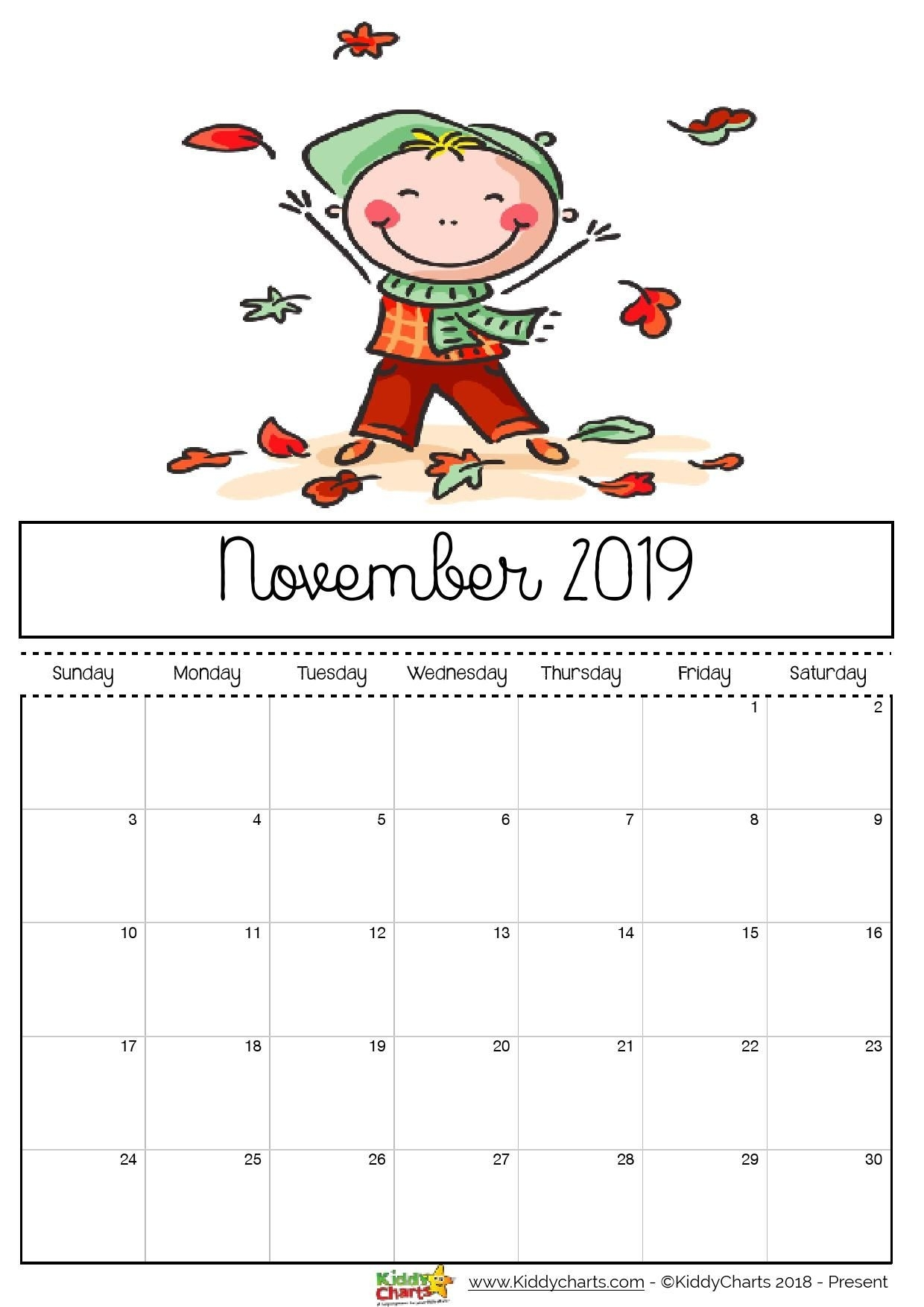Free Printable 2019 Calendar For Kids | Books | Kids Calendar