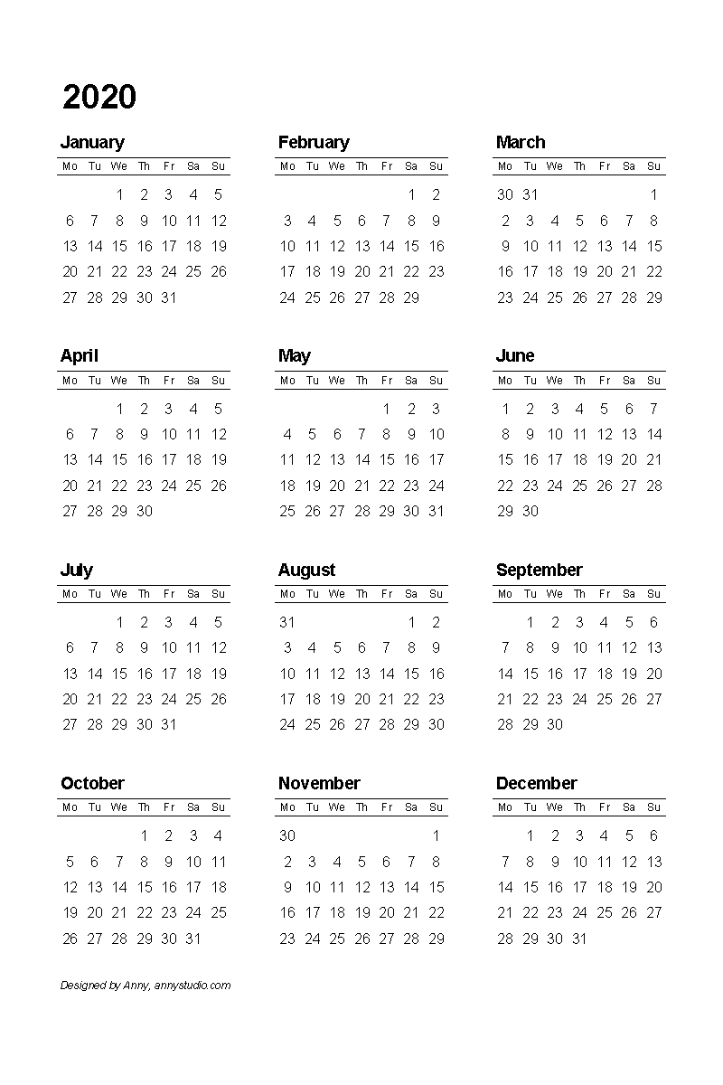 printable calendar sunday through saturday