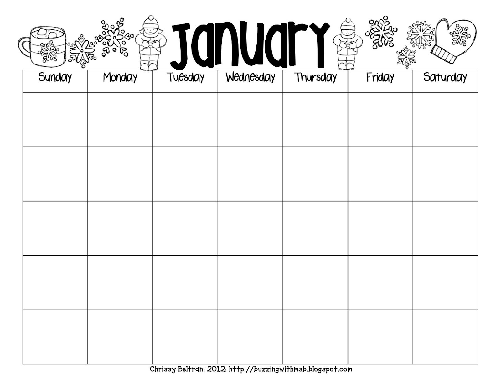 Free Printable Monthly Calendars For Teachers Reading Log Template