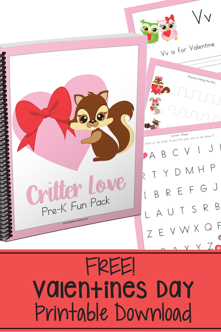 Free Printable Valentines Day Preschool Pack - The Relaxed Homeschool