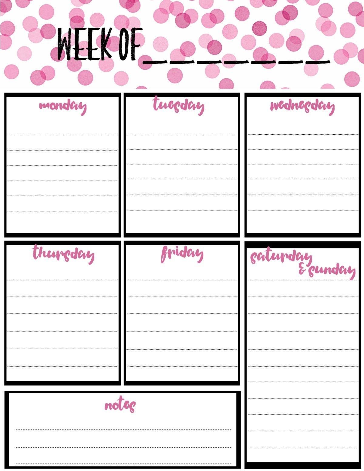 Free Printable Calendar Half Page | Ten Free Printable ...
