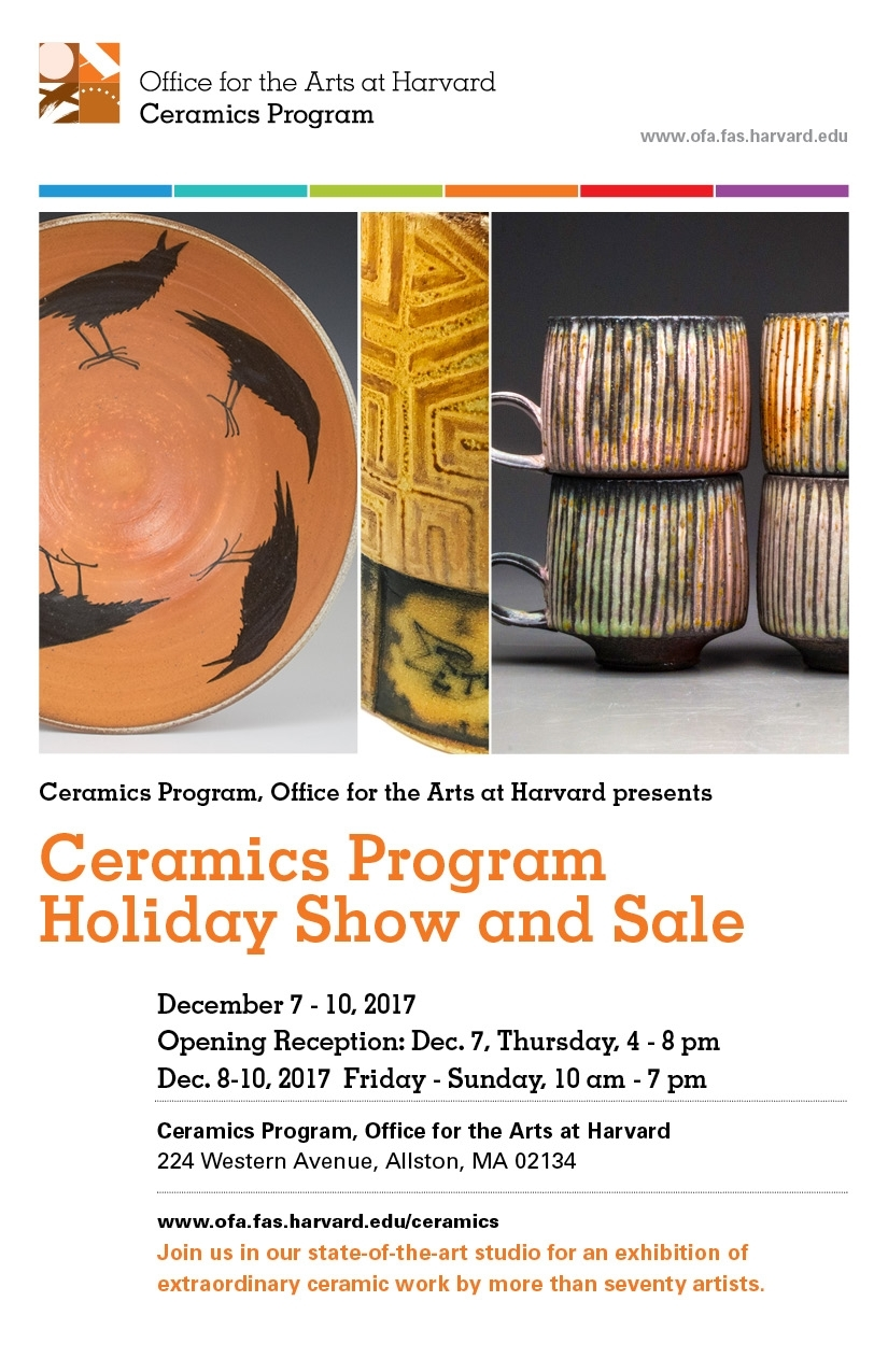 Harvard Ceramics Program Holiday Show And Sale Presentedceramics