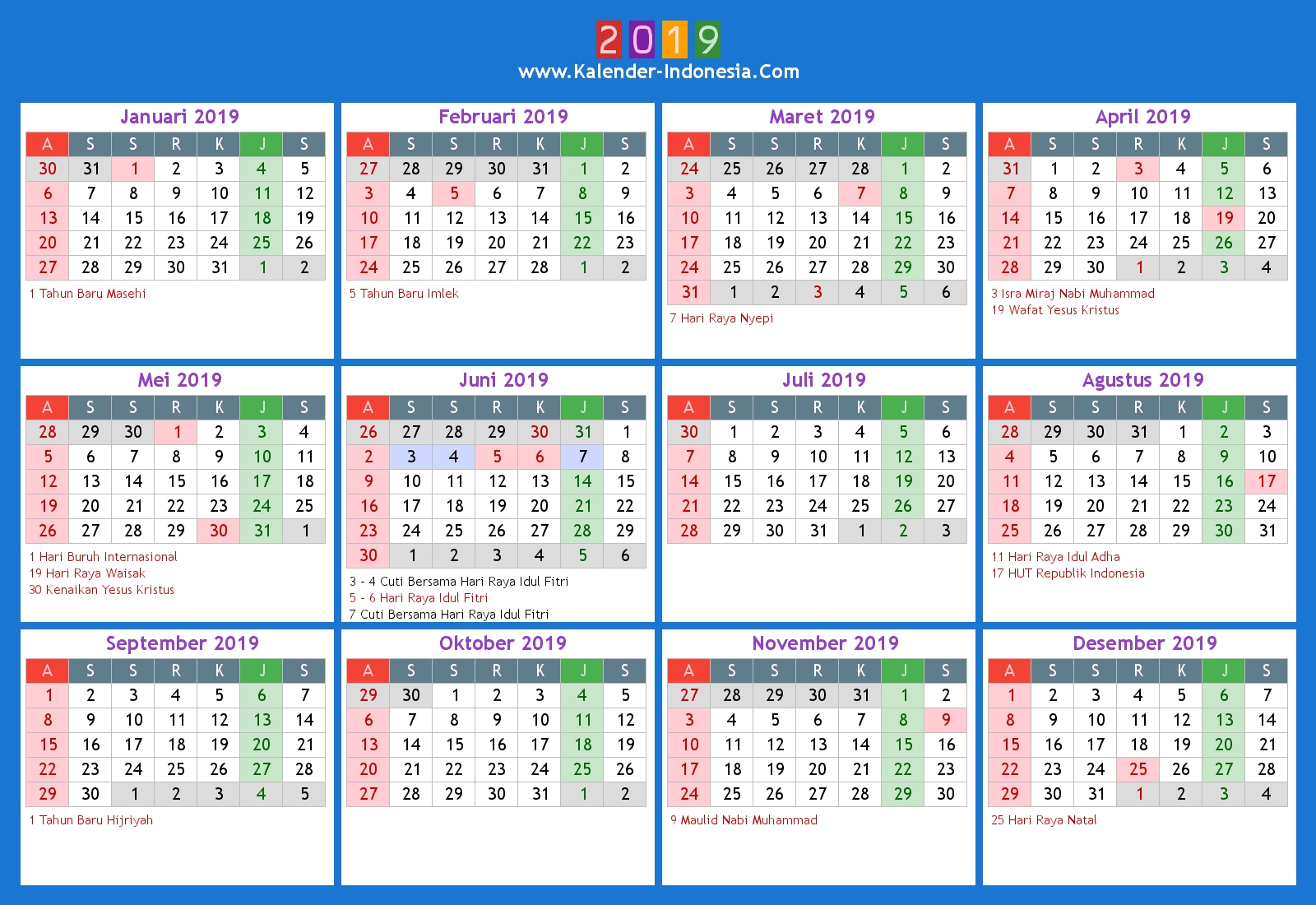 Hasil Gambar Untuk Kalender 2019 | A In 2019 | Calendar 2018, 2018