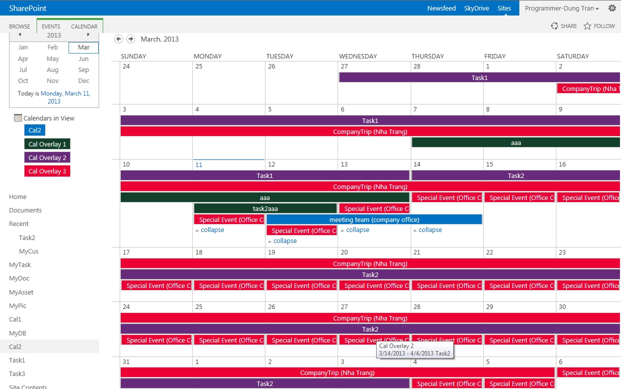 How To Overlay Calendars In Sharepoint 2013 – Sharepoint And Office