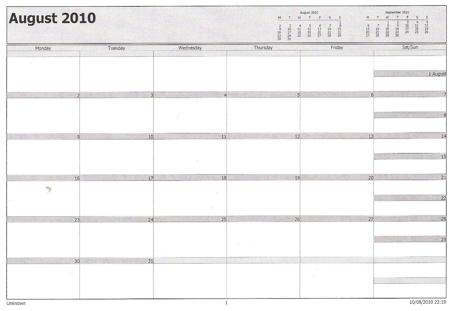 How To Print Blank Calendar In Outlook | Printable Calendar