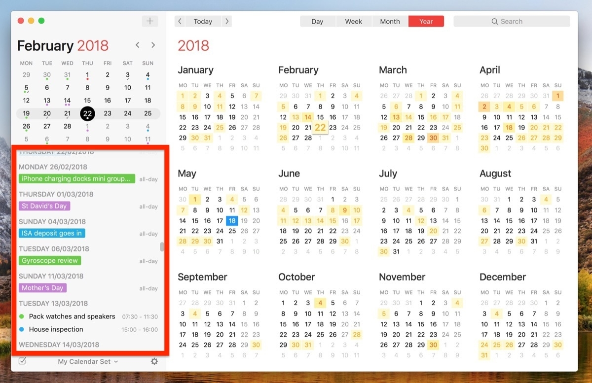 How To View All Events As A List In Your Mac's Calendar App - Macrumors