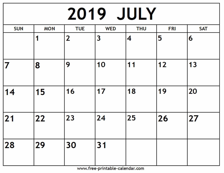 July 2019 Calendar - Free-Printable-Calendar