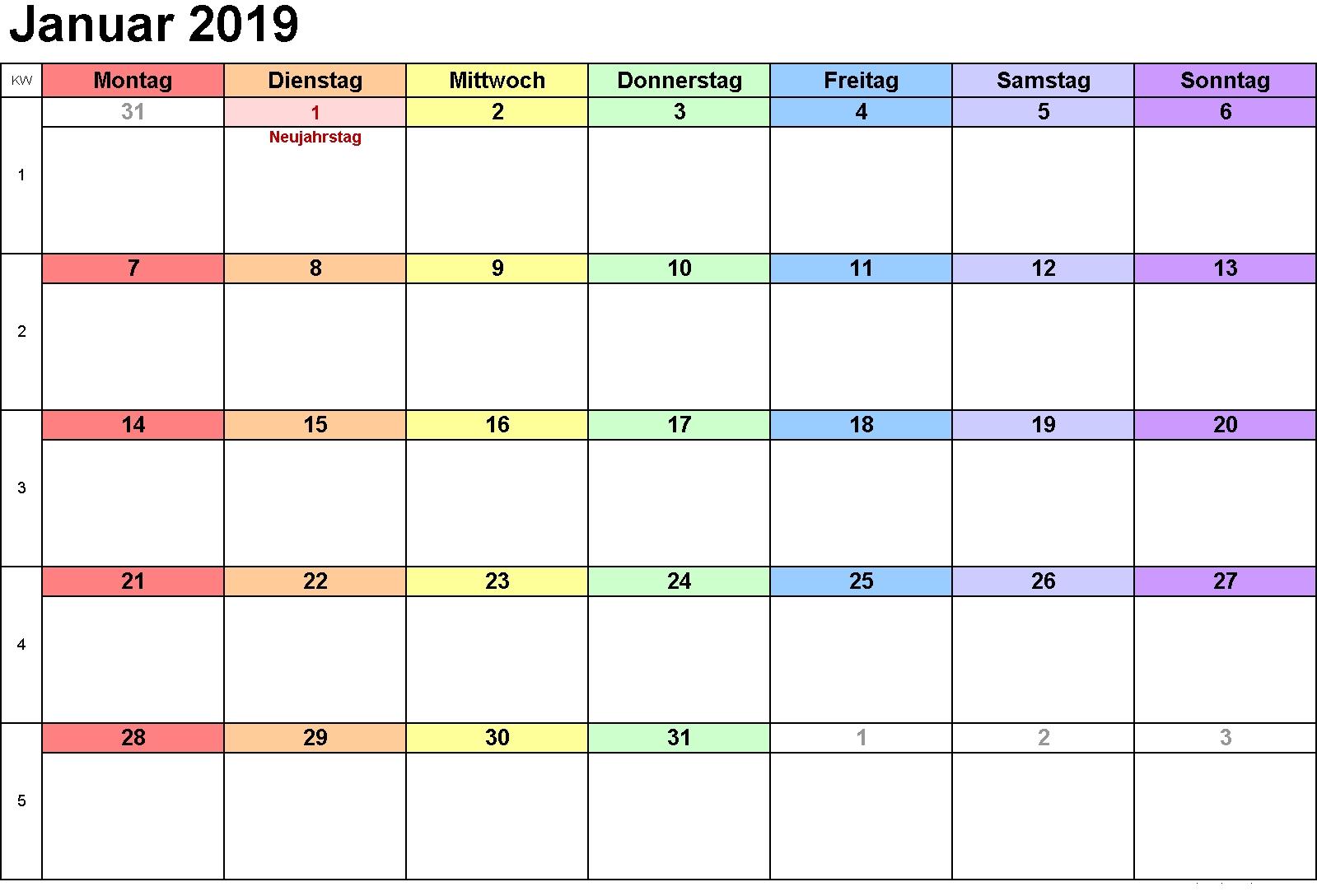 Kalender 2019 Januar | Kalender 2019 Januar | July Calendar, August