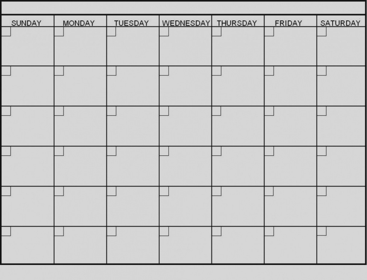 Latest Blank 6 Week Calendar Template Printable 2 Planner 2018