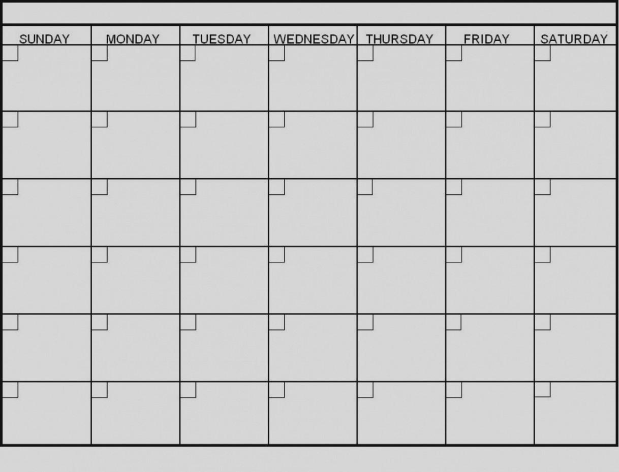 Latest Blank 6 Week Calendar Template Printable 2 Planner 2018
