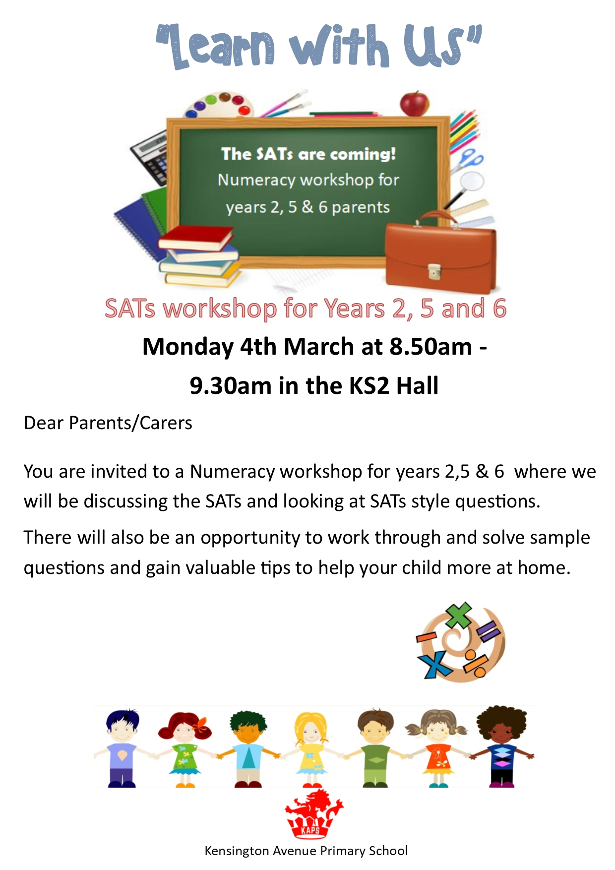 Learn With Us – 4Th March (Yr. 2, 5 And 6 Sats – Numeracy