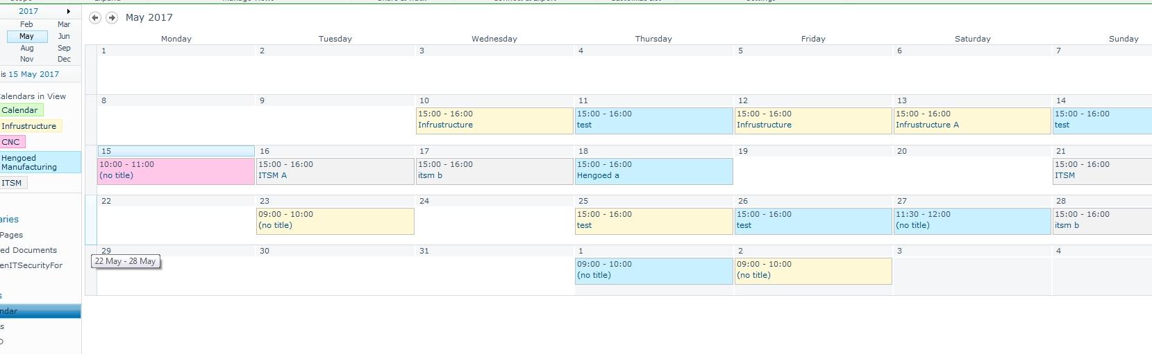 List - Making A Dropdown Choice Show Up In A Calendar View