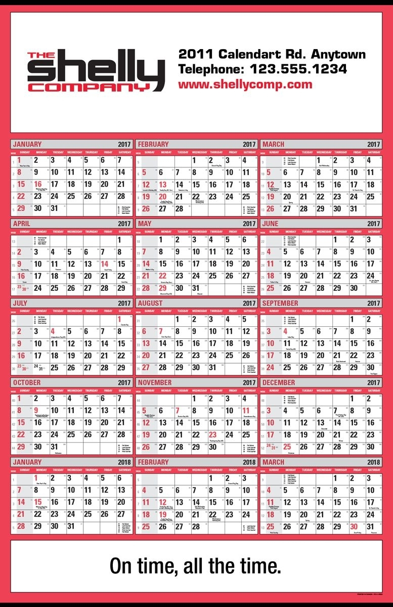 Pca 5500 15 Month Double Ad Wall Calendar | Instant View Calendars