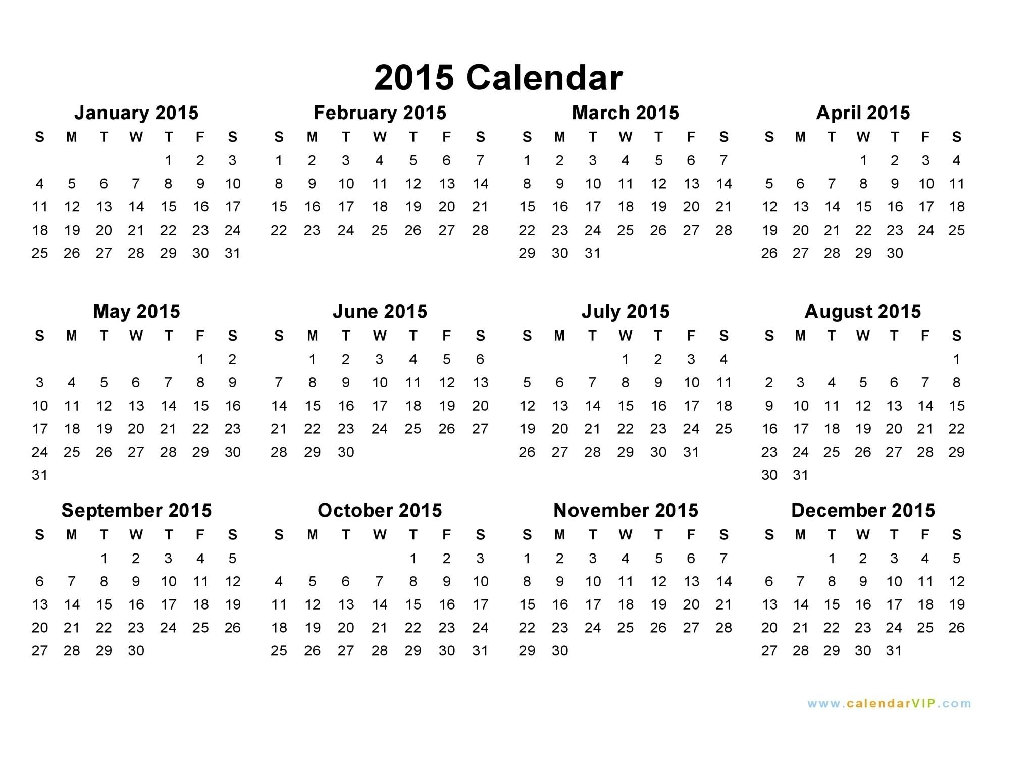 Print Off Year Long Calendar   Holidays Calendar Template