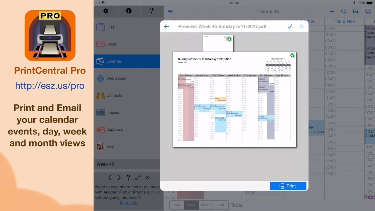 Print Your Iphone Or Ipad Calendar To Any Printer Or Pdf