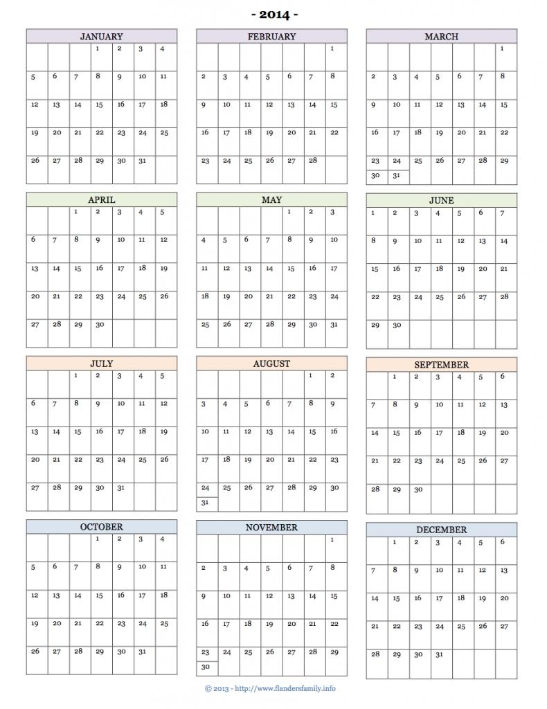 Printable 2014 Calendars - Flanders Family Homelife