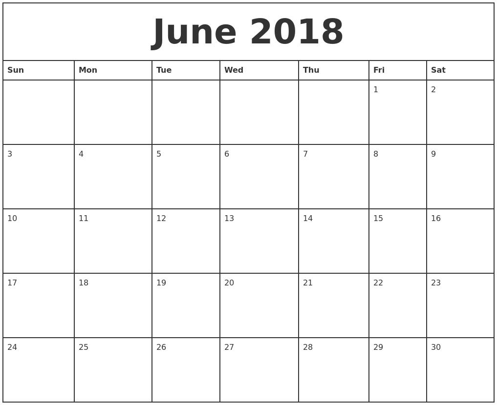 Printable Calendar 2018 Add Text   Printable Calendar 2019