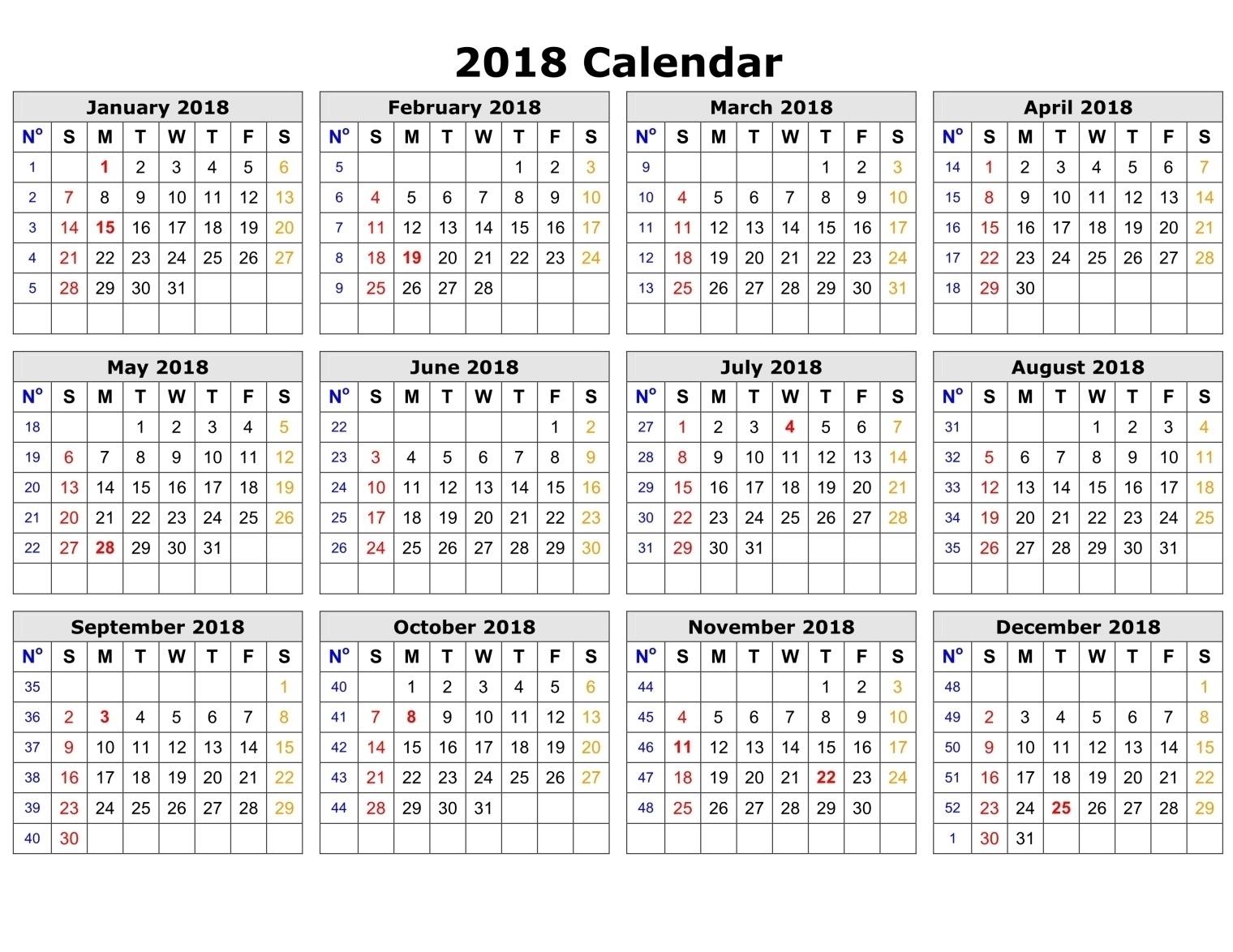 Printable Calendar 2018 Time And Date   Printable Calendar 2019