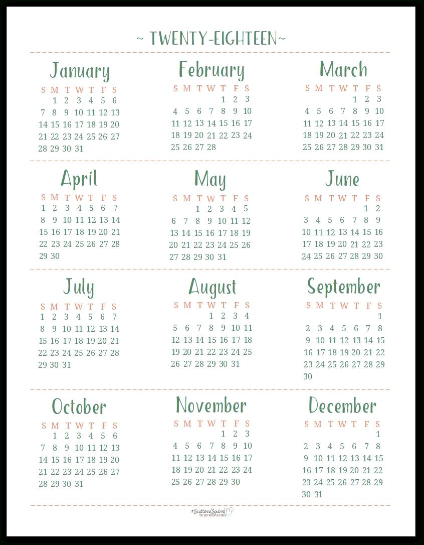 Printable Calendar Letter Size | Printable Calendar 2019