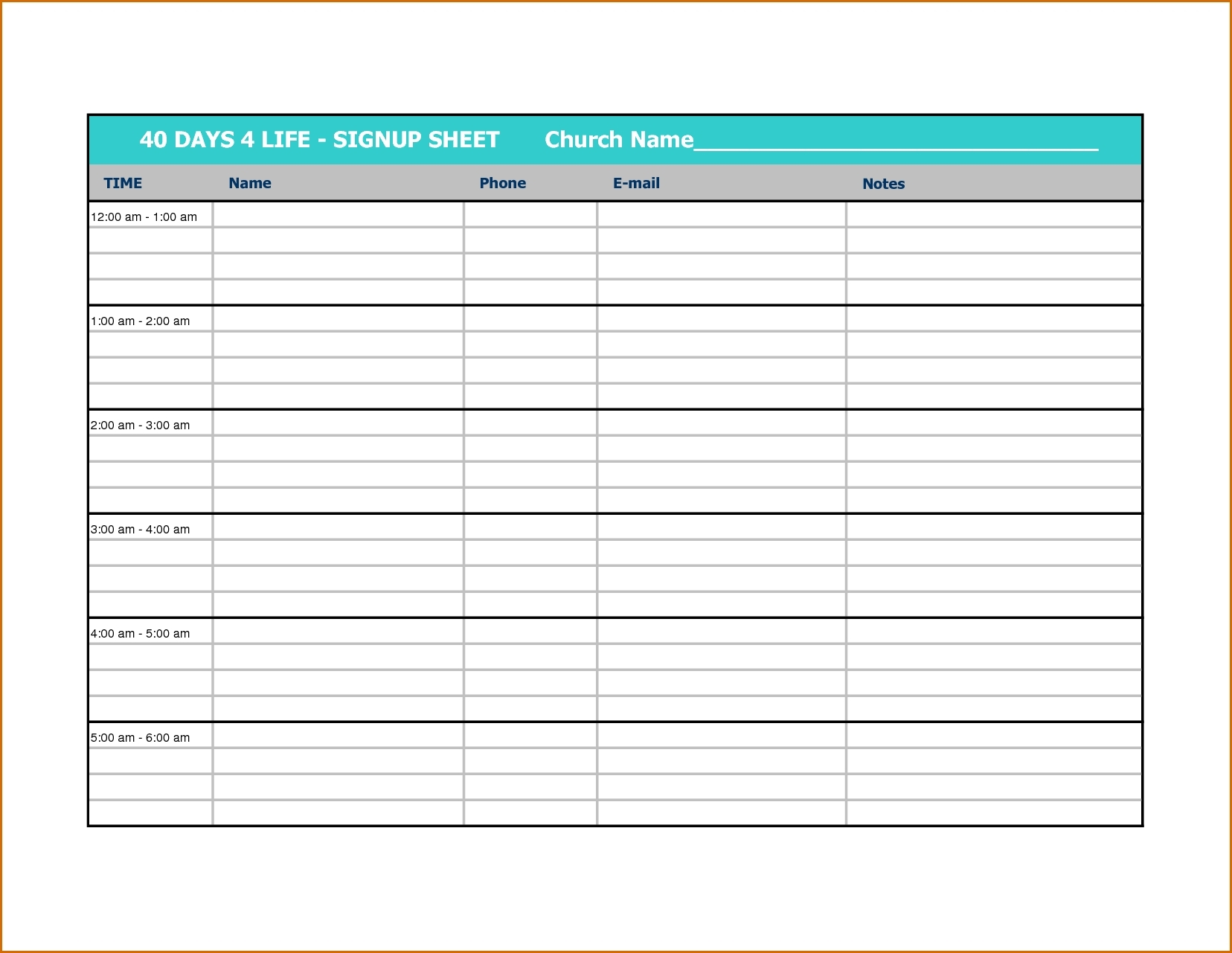 Printable Calendar Sign Up Sheet | Ten Free Printable Calendar 2019-2020