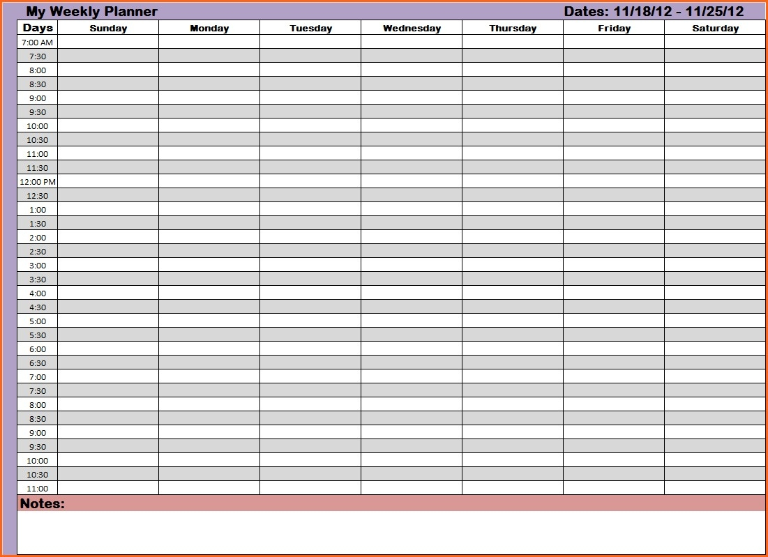 Printable Calendar With Times Hour Weekly Related Time And Date