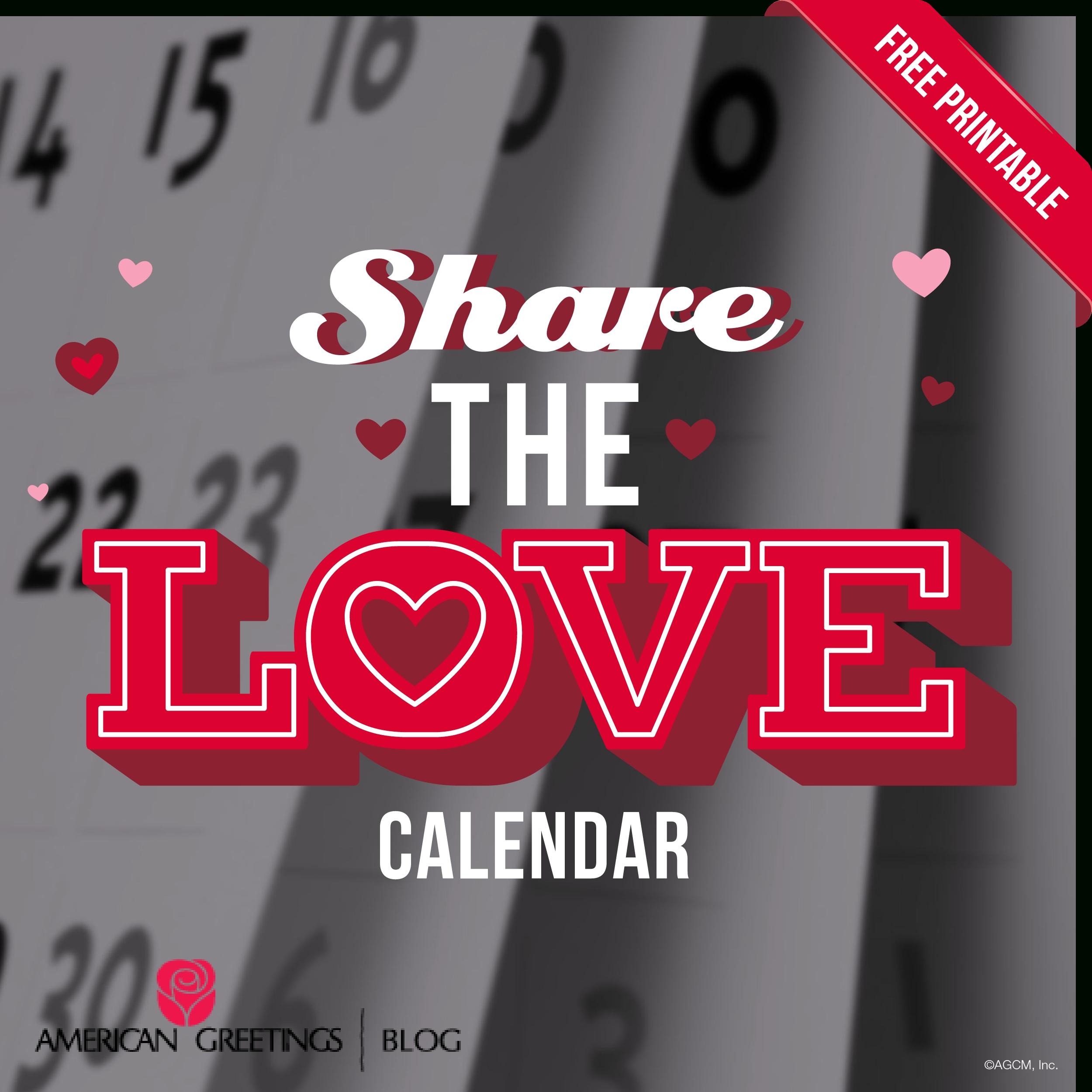 Printable Valentine's Day Calendar| American Greetings