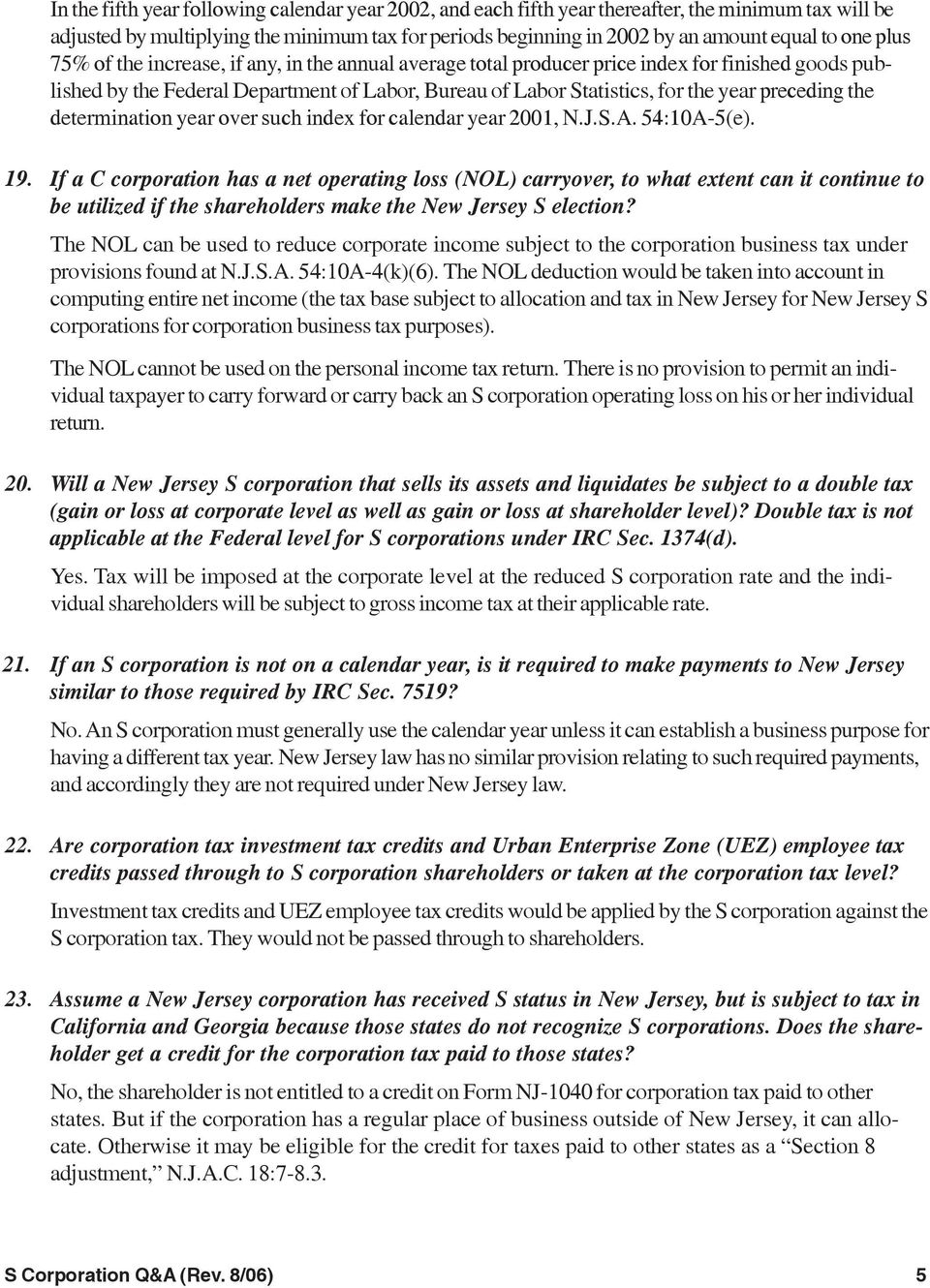 S Corporation Questions & Answers - Pdf