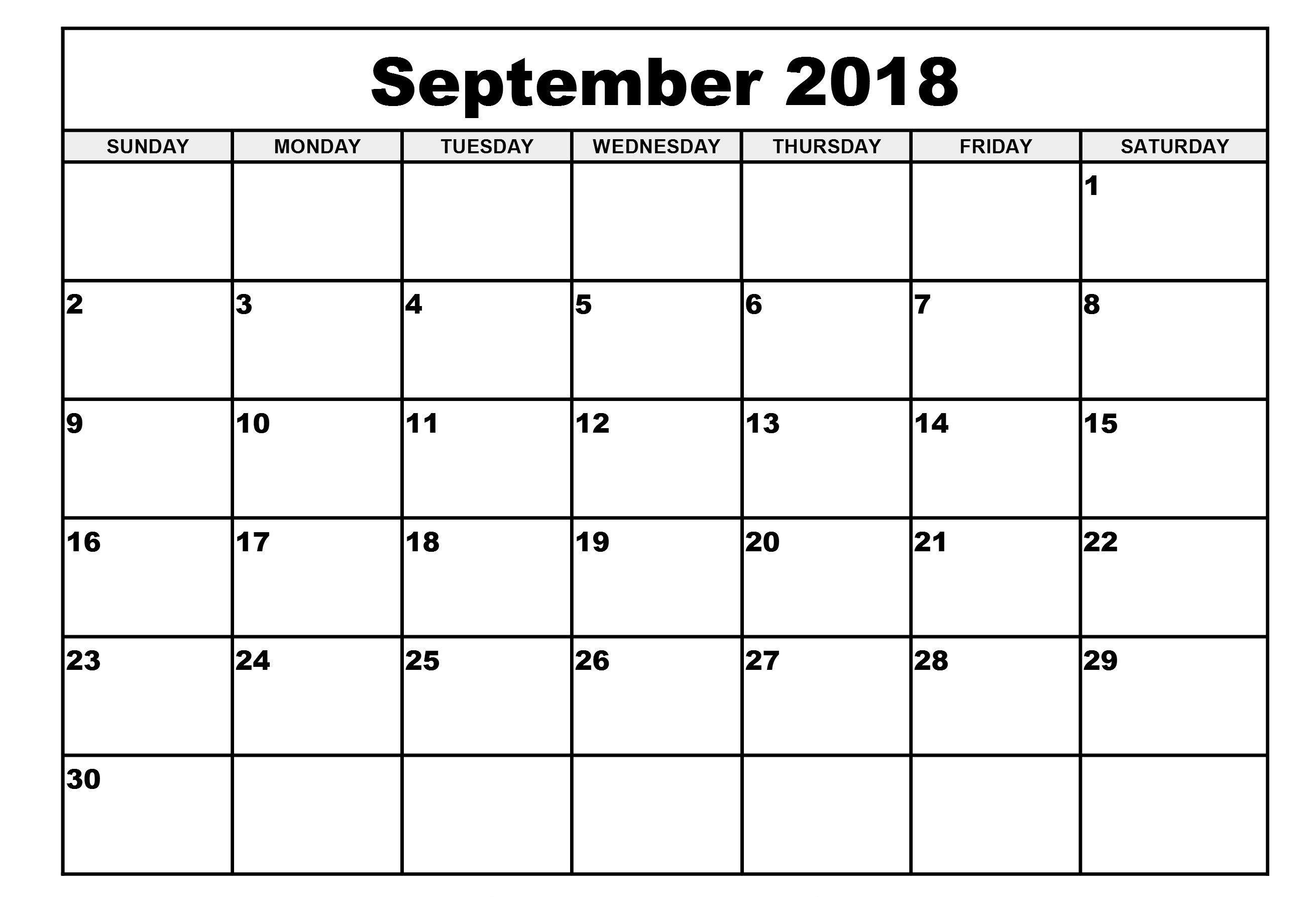 September 2018 Calendar Spanish Word Excel Pdf | September 2018