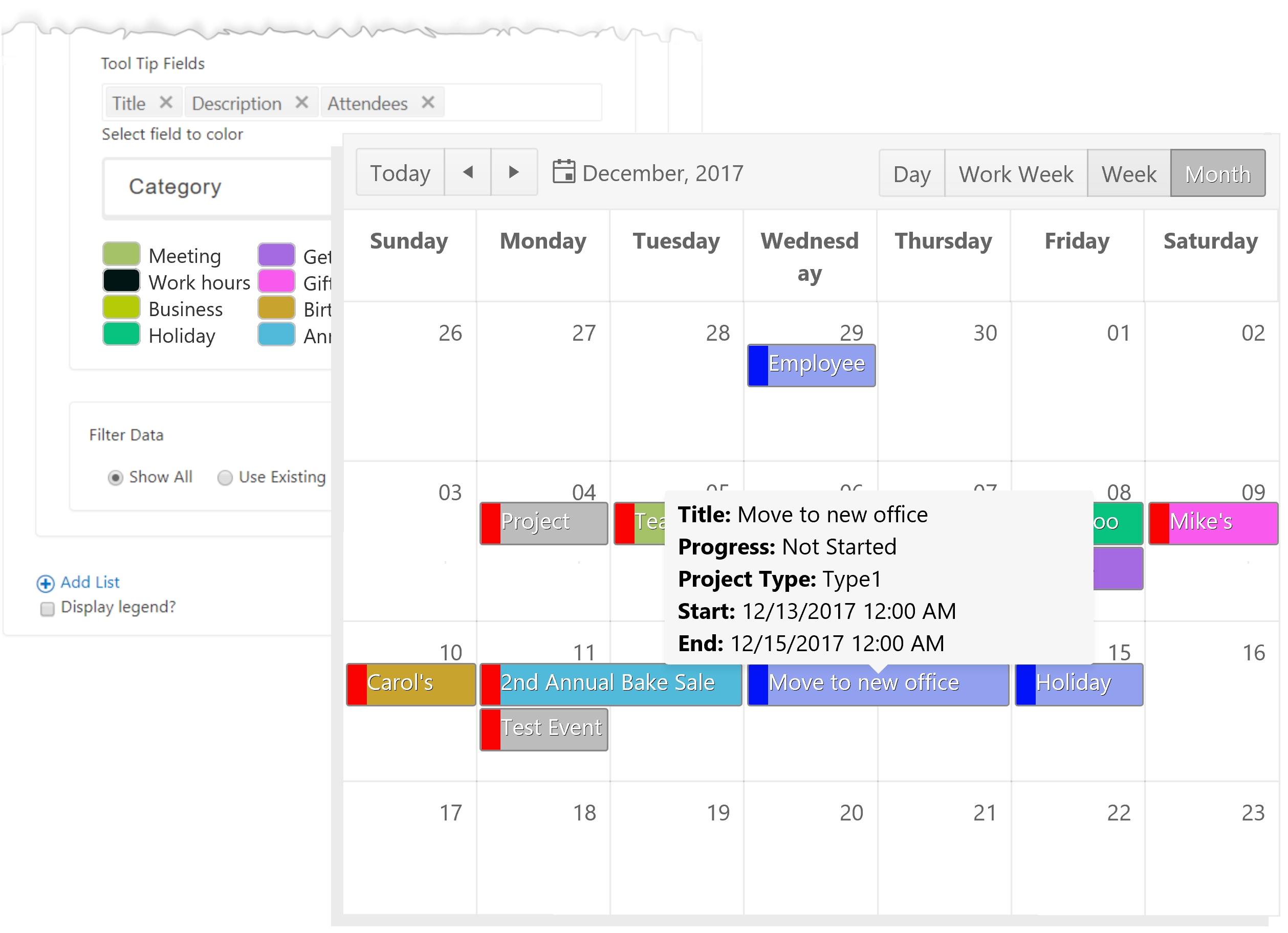 Sharepoint Calendar Plus Cloud Part - Bamboo Solutions