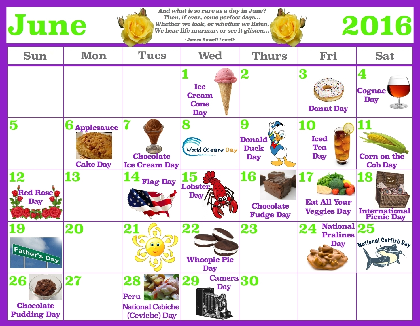 Take National Days Of The Month June ⋆ The Best Printable Calendar