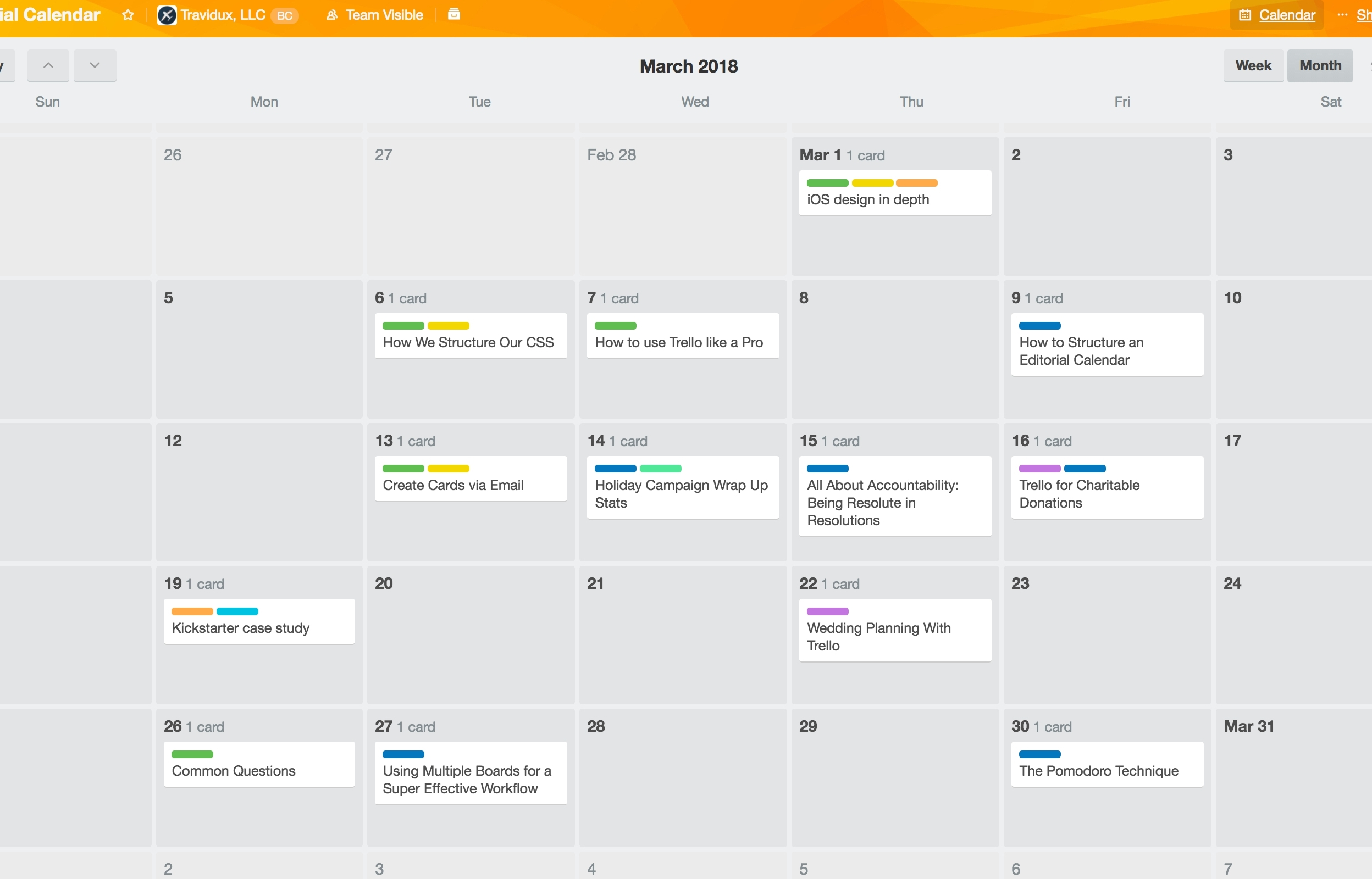Trello Power-Up | Calendar