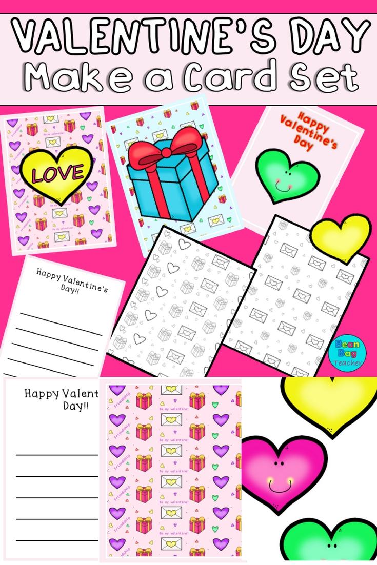 Valentine's Day Make A Card Set | Free Printables ♡ | Valentines
