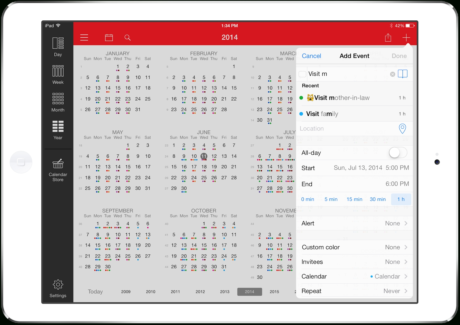 Week Calendar: New Release: Week Calendar For Ipad 7.0