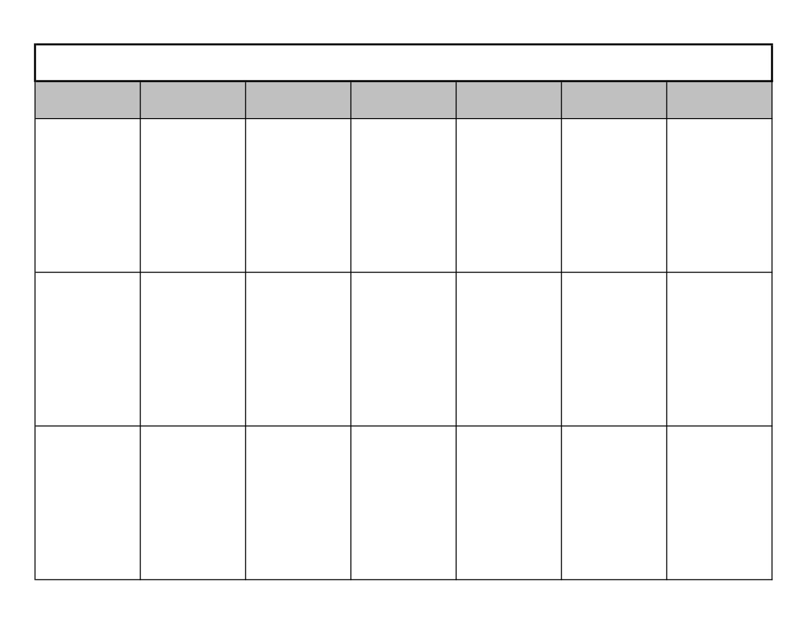 Week Calendar Template Free Blank Excel Weekly Le For Pdf Version