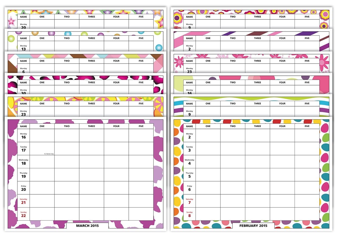 Week To View Family Organiser Calendar Contemporary Theme