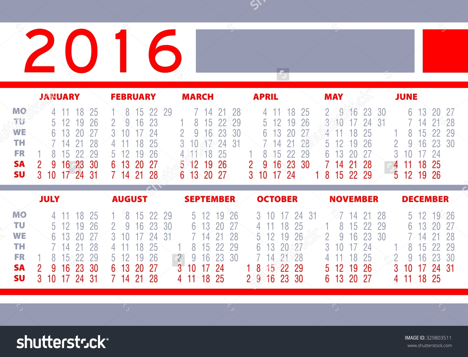 Weeks Of The Year 2016 | Sitedesignco