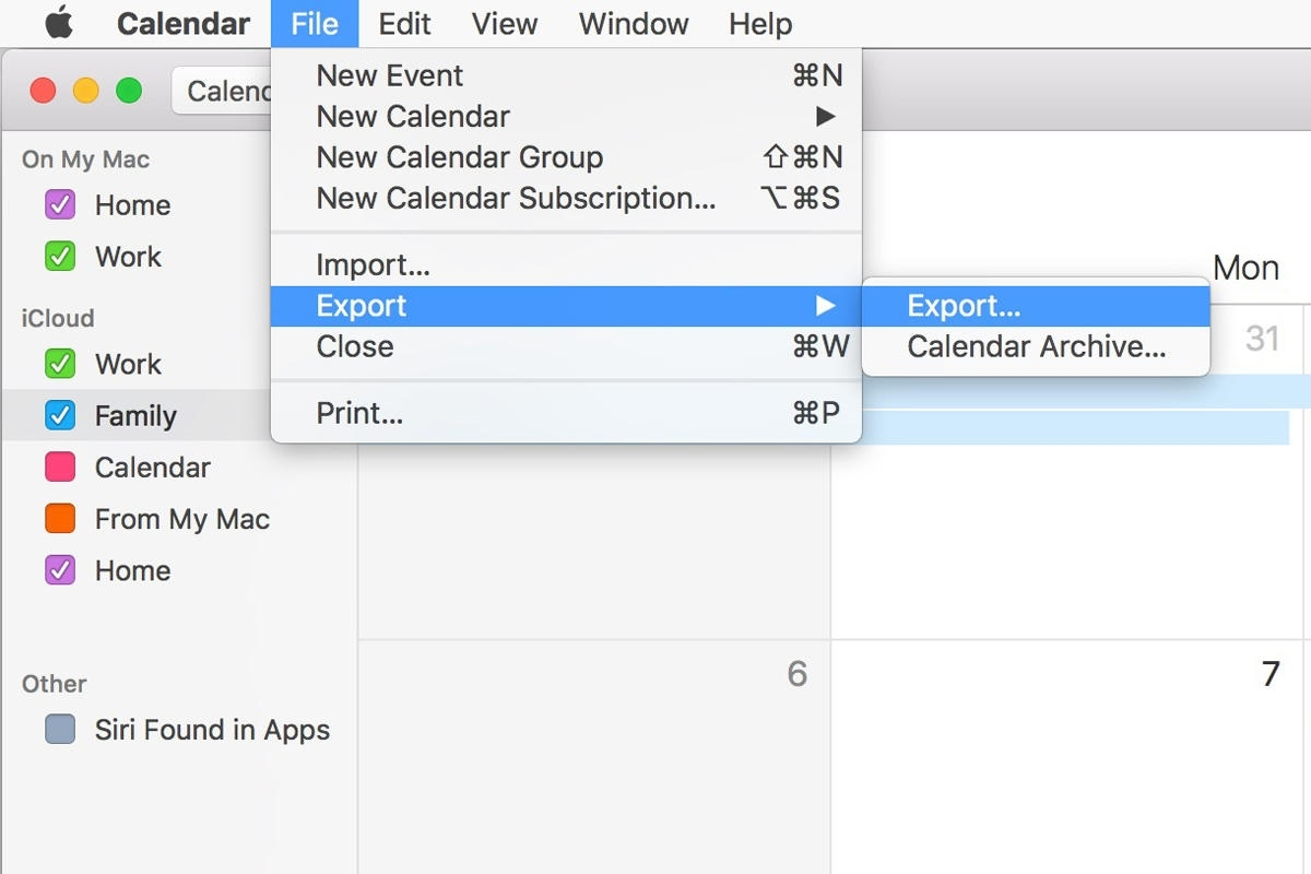 What You Get When You Export Calendar And Reminders In Macos, And