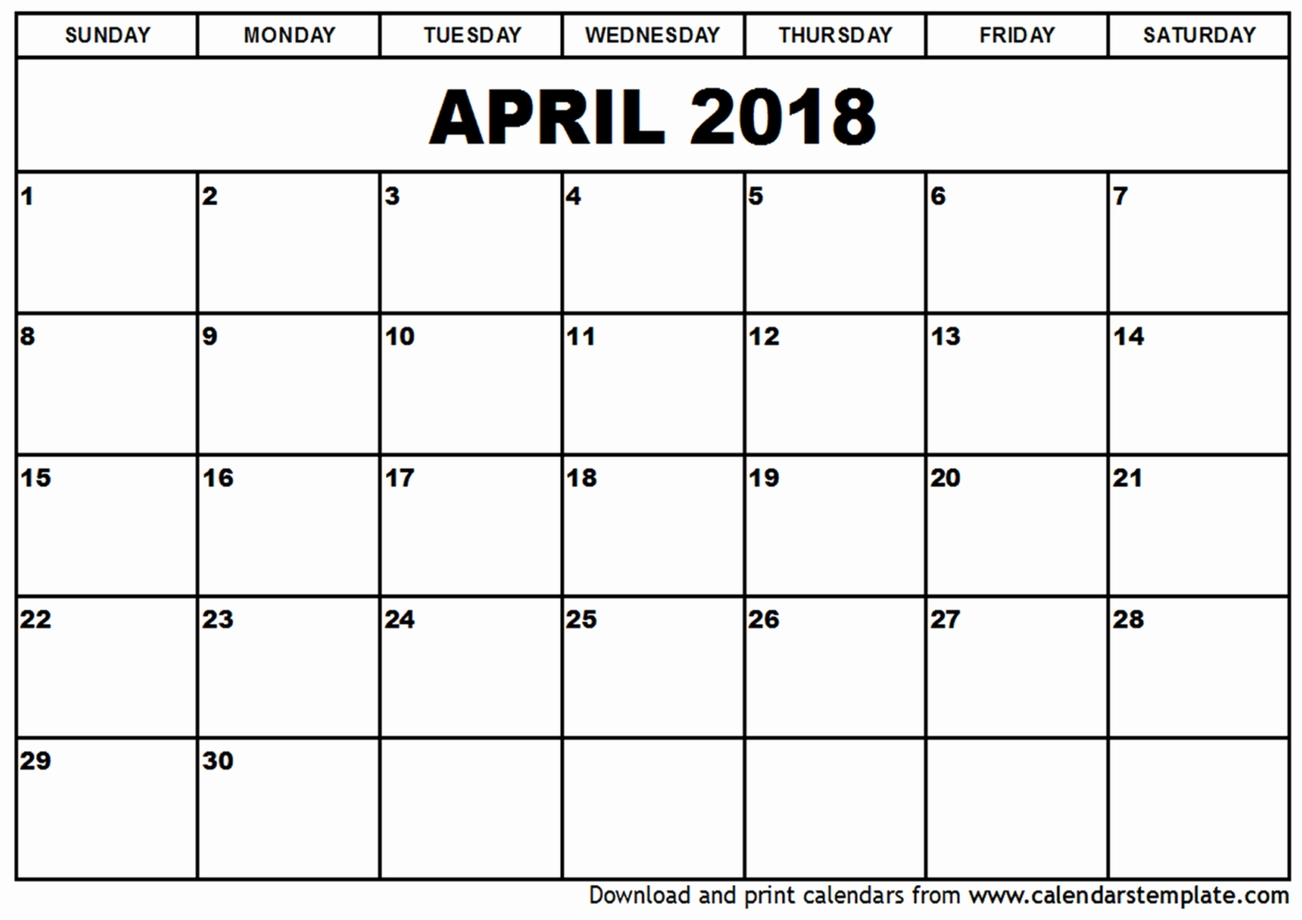 Www Free Printable Calendar Net April 2018 Visual Schedule Template